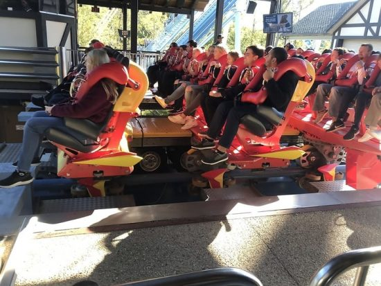 Busch Gardens Williamsburg Griffon overcome fear on roller coasters and thrill rides
