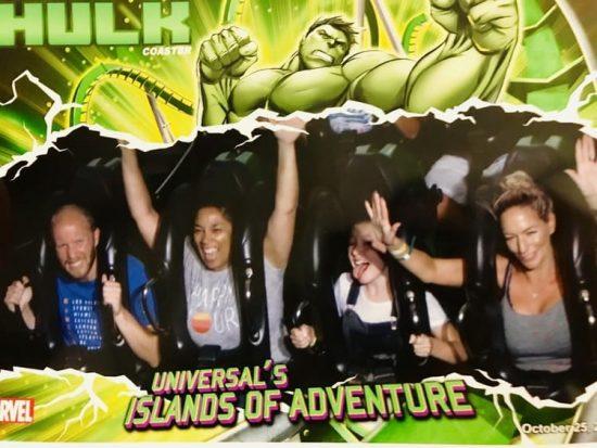 Universal Islands of Adventure Incredible Hulk Roller Coaster