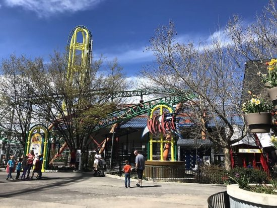 Lagoon Wicked Roller Coaster