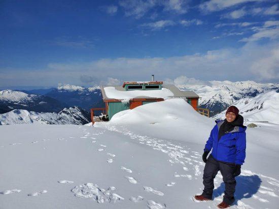 Jeanne Jim Haberl Hut Tantalus Mountain Range