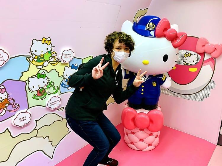 Hello Kitty Osaka to Hiroshima Shinkansen