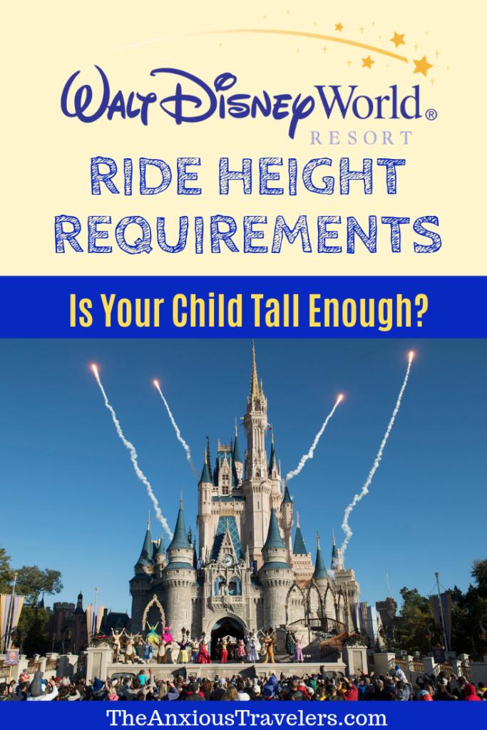 Walt Disney World Resort Ride Height Requirements