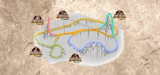 Pantheon Busch Gardens Williamsburg World's Fastest Multi-Launch Coaster
