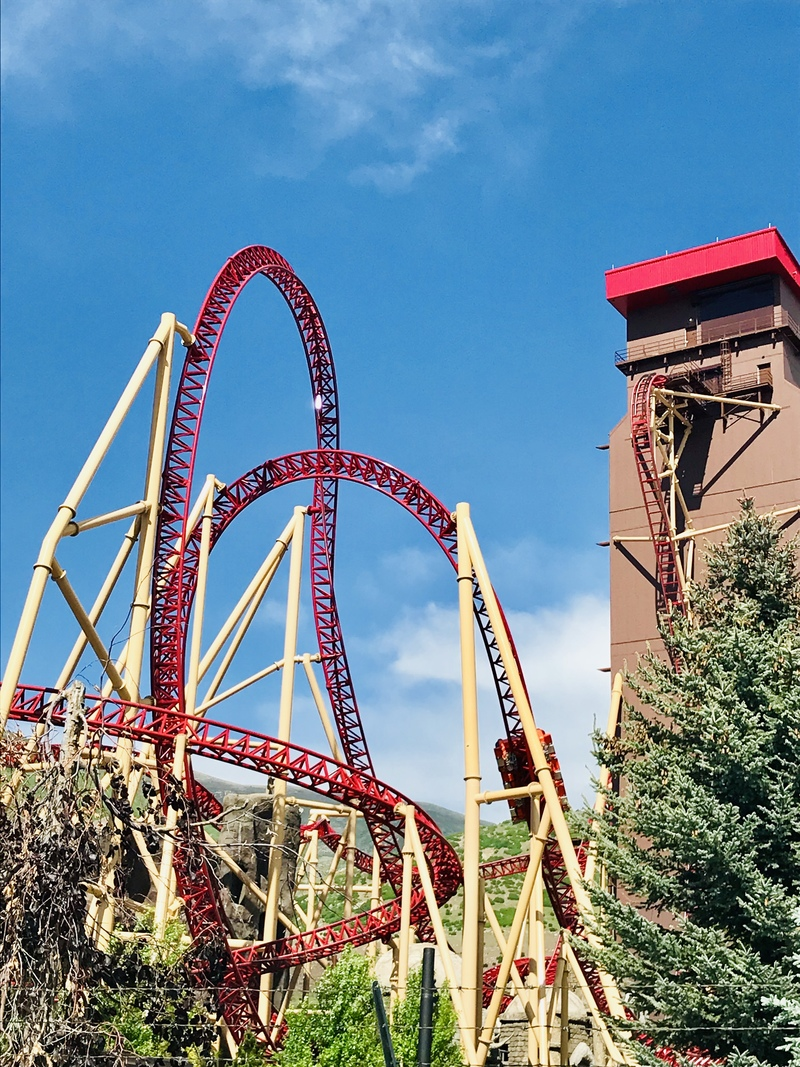 Cannibal beyond vertical drop roller coaster Lagoon