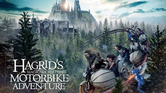 Universal Studios Islands of Adventure Hogsmeade Hagrid's Magical Creatures Motorbike Adventure