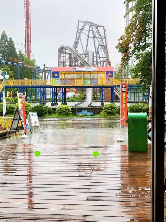 Fuji-Q Highland Rain in Tokyo, Japan