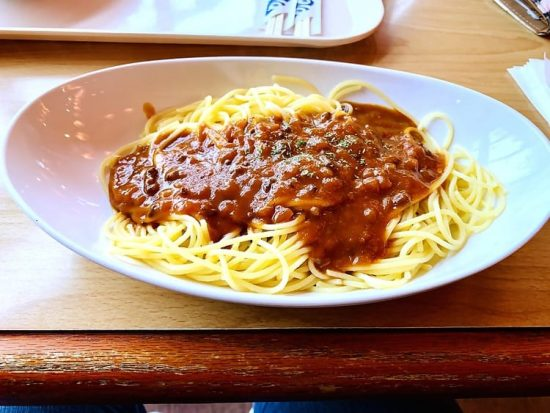 Fuji-Q Highland Spaghetti affordable restaurants in Japan