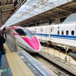 Hello Kitty Shinkansen Exterior A Guide to Trains in Japan