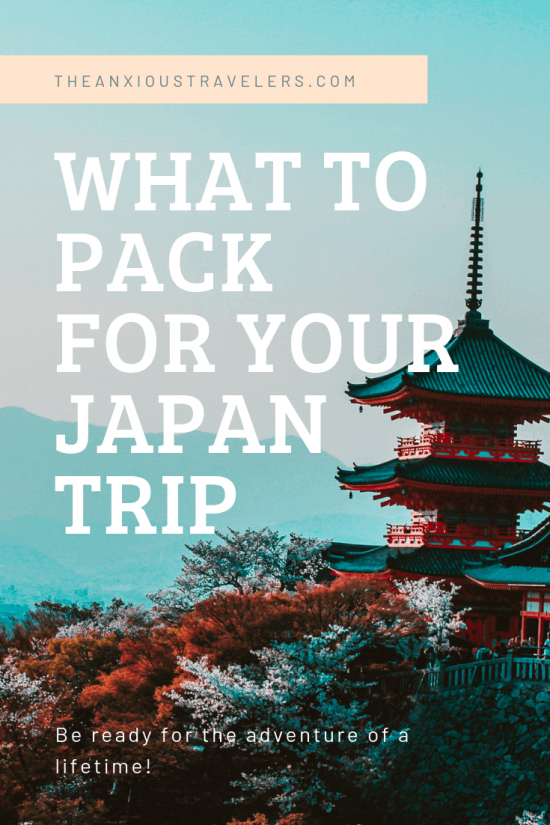 What should you pack for a trip to Japan?