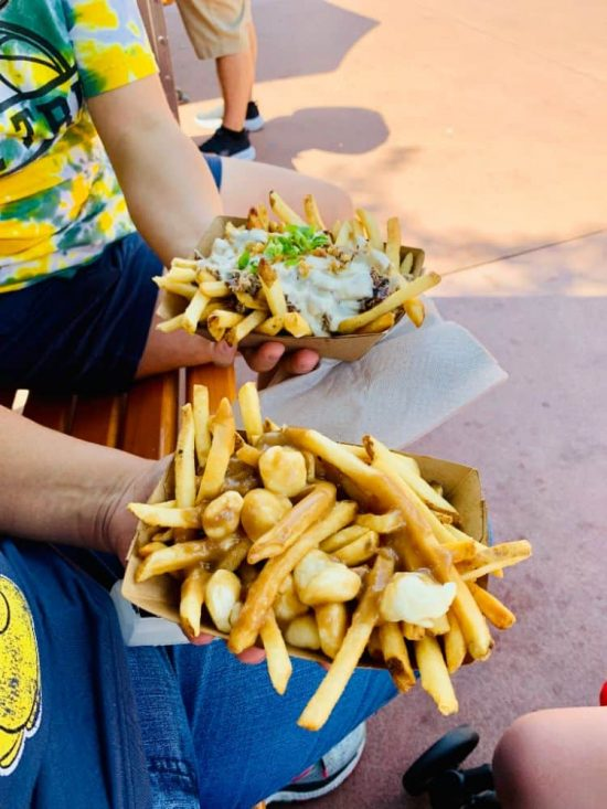 Epcot Food and Wine Poutine all four parks in a day