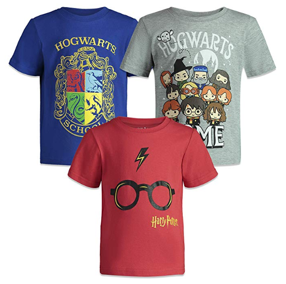 Harry Potter Hogwarts Toddler Boys Short Sleeve T-Shirt 3 Pack
