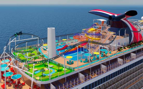 Bolt Roller Coaster - Carnival Cruise Lines