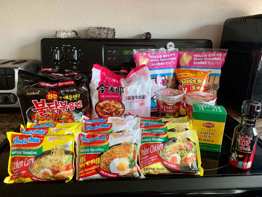 Ramen, crackers, and more order from Asian Food Grocer