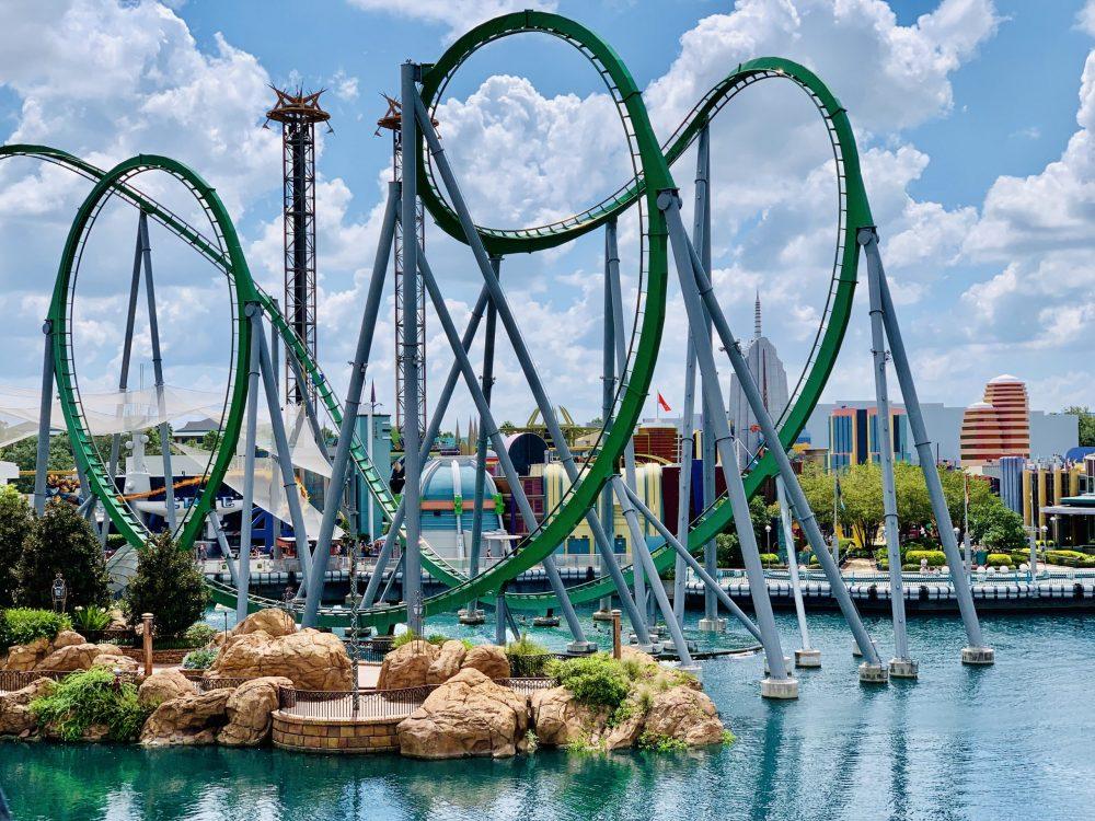 The Incredible Hulk roller coaster at Universal