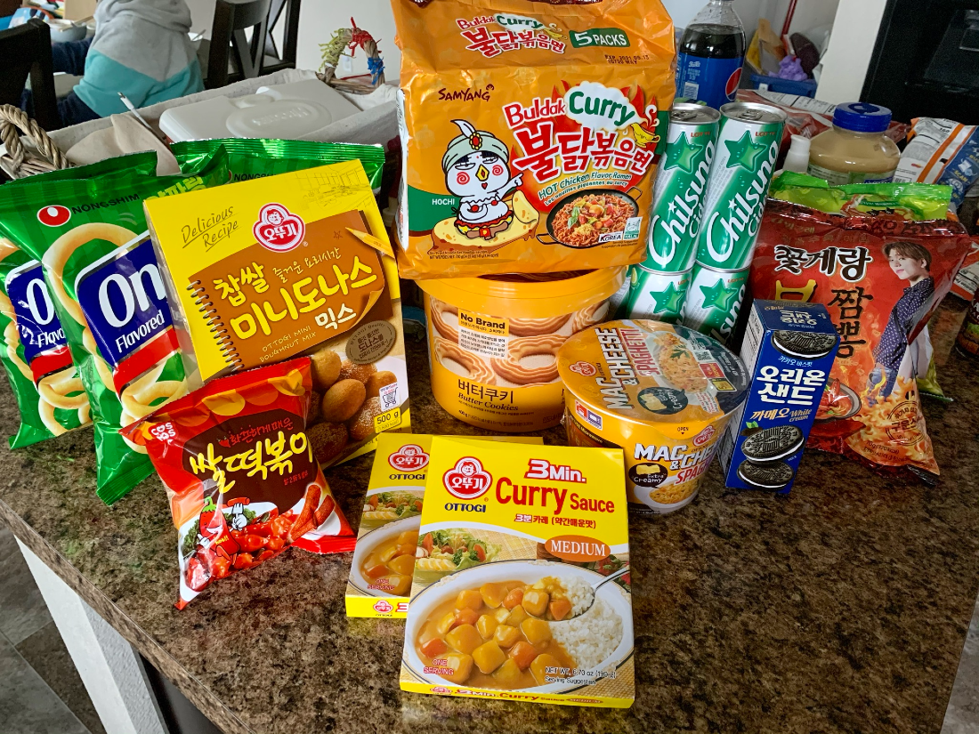 Example of an order from Cokoyam including ramen and curry