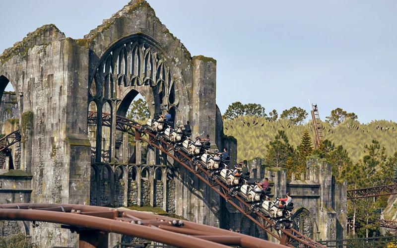 Hagrid roller coaster at Wizarding World of Harry Potter Universal Florida
