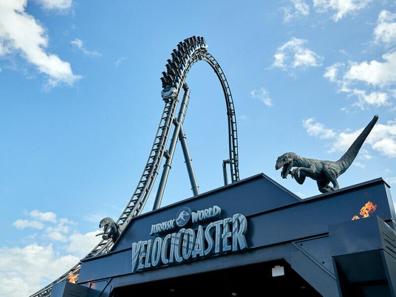 VelociCoaster roller coaster drop at Universal's Islands of Adventure