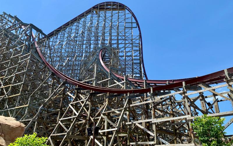 Roller coaster Steel Vengeance drop at Cedar Point