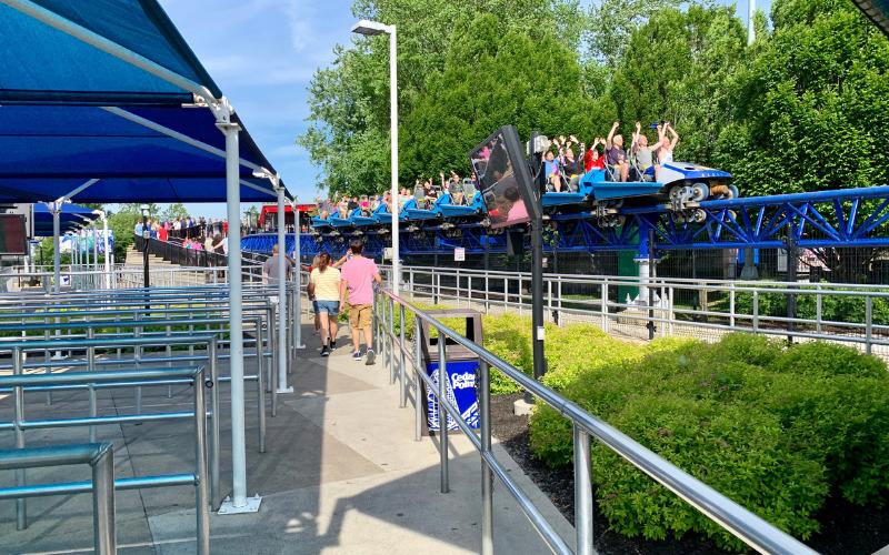Ride queue at Millennium Force at Cedar Point