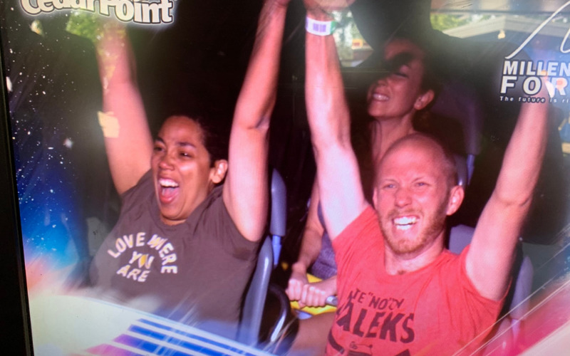 On-ride picture how scary is Millennium Force?
