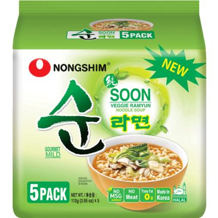 Green Nongshin Soon Soup noodles pack