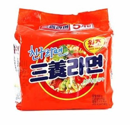 Original orange package Samyang ramen noodles