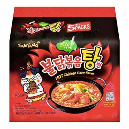 Samyang hot chicken buldak flavor stew type Korean ramen noodles