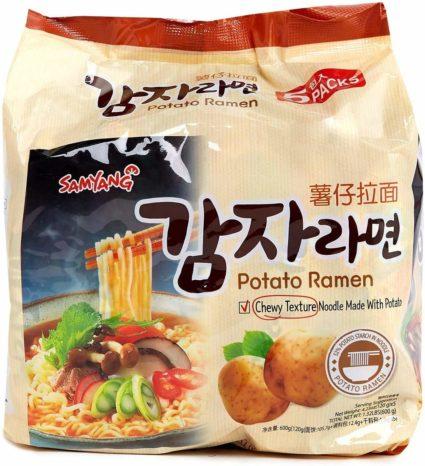 Samyang potato Korean ramen noodles