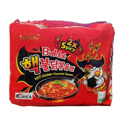Samyang hot chicken buldak flavor 2x spicy Korean ramen noodles