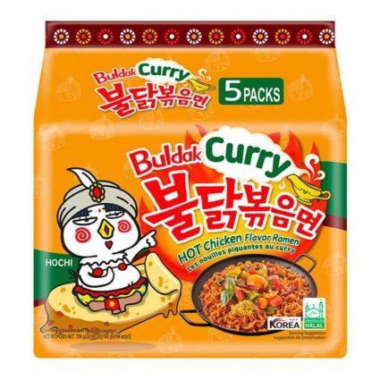 Samyang hot chicken buldak curry flavor Korean ramen noodles