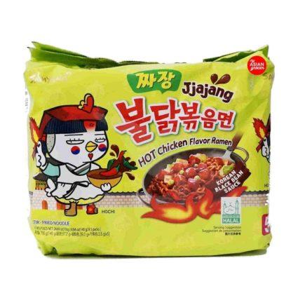 Samyang hot chicken jjajang Korean ramen noodles