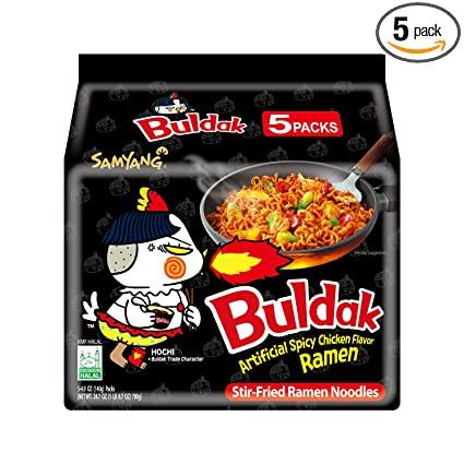 Samyang hot chicken buldak flavor Korean ramen noodles