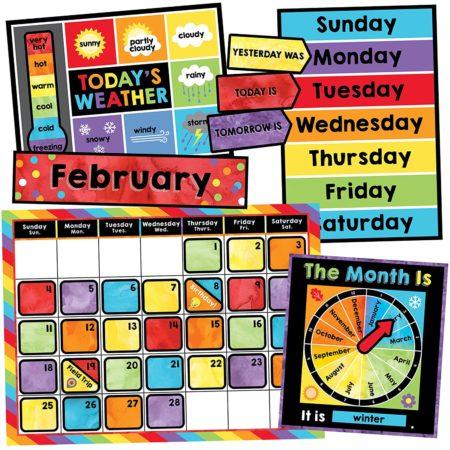 Weather and calendar bulletin board set for homeschool