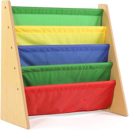 Colorful kids book storage bookshelf four tiers