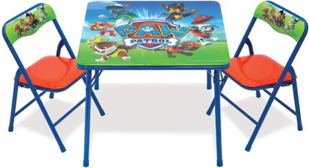 Paw Patrol kids folding table with chairs