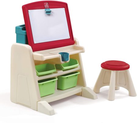Step2 Easel and Desk combination with stool for homeschool organization ideas