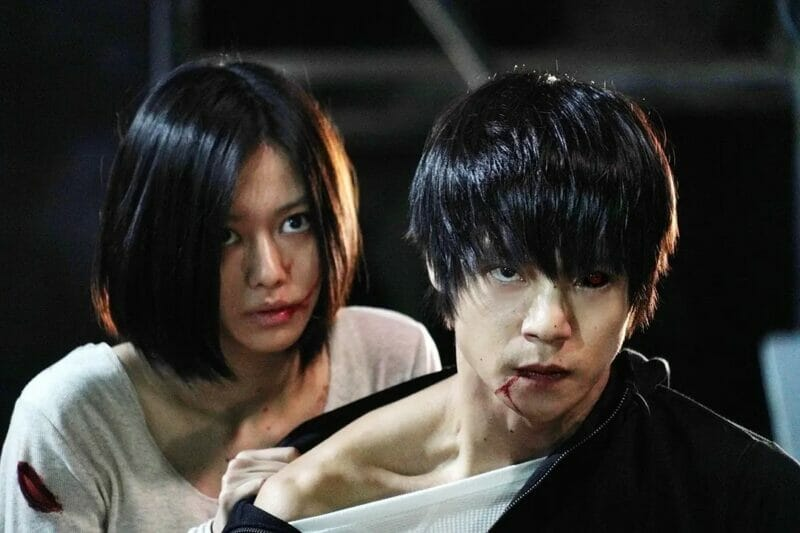 Screenshot from the Japanese horror movie Tokyo Ghoul
