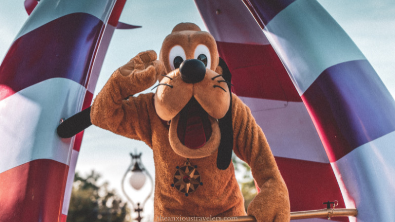 Cute picture of Pluto sharing Disney ride heights